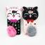 ซัมซุง J7Prime เคสtpuแมวดำห้อยขนเฟอร์ thumbnail 2