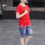 เสื้อ+กางเกง สีแดง แพ็ค 5 ชุด ไซส์ 120-130-140-150-160 (เลือกไซส์ได้) thumbnail 2