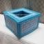 กล่องทิชชูแผ่นเฟรม Pop up สีฟ้า (ทำสำเร็จ) thumbnail 1