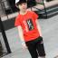 เสื้อ+กางเกง สีแดง แพ็ค 5 ชุด ไซส์ 130-140-150-160-170 (เลือกไซส์ได้) thumbnail 4