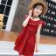 ชุดกระโปรง สีแดง แพ็ค 5 ชุด ไซส์ 110-120-130-140-150 (เลือกไซส์ได้) thumbnail 1