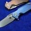RHK Half-Track Frame Lock Knife Blue Titanium