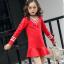 ชุดกระโปรง สีแดง แพ็ค 5 ชุด ไซส์ 110-120-130-140 (เลือกไซส์ได้) thumbnail 2