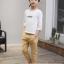กางเกง สีกากี แพ็ค 5 ชุด ไซส์ 120-130-140-150-160 (เลือกไซส์ได้) thumbnail 5
