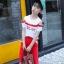 เสื้อ+กางเกง สีแดง แพ็ค 6 ชุด ไซส์ 110-120-130-140-150-160 (เลือกไซส์ได้) thumbnail 2