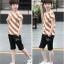 เสื้อ+กางเกง สีช็อคโกแลค แพ็ค 5 ชุด ไซส์ 130-140-150-160-170 (เลือกไซส์ได้) thumbnail 5