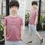 เสื้อ+กางเกง สีน้ำตาล แพ็ค 5 ชุด ไซส์ 130-140-150-160-170 (เลือกไซส์ได้) thumbnail 1