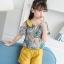 เสื้อ+กางเกง สีเหลือง แพ็ค 6 ชุด ไซส์ 110-120-130-140-150-160 (เลือกไซส์ได้) thumbnail 4
