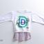 เสื้อ สีขาว แพ็ค 5 ชุด ไซส์ 120-130-140-150-160 (เลือกไซส์ได้) thumbnail 6