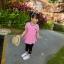 เสื้อตัวยาวสีชมพูแต่งหัวใจที่หน้าอก [size 2y-3y-4y-5y-6y] thumbnail 3