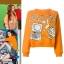 เสื้อแขนยาวแฟชั่น สีส้ม thumbnail 1
