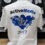 เสื้อขาวพิมพ์ลาย Active Media ด้านหลังเสื้อด้วยระบบ DTG thumbnail 1