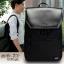กระเป๋าเป้สะพายหนังผสมไนลอน แบบ หยางหยาง (สีดำ) thumbnail 1
