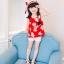 ชุดเซตเสื้อลายดอกไม้สีแดง+กางเกงลูกไม้สีขาว+เข็มกลัดดอกไม้+หมวกพร้อมผ้าคาดสีแดง แพ็ค 5 ชุด [size 2y-3y-4y-5y-6y] thumbnail 1