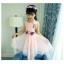 ชุดเดรสแขนกุดสีชมพูแต่งดอกไม้ที่เอว [size 5y-6y-7y-8y-9y-10y] thumbnail 2
