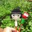ตุ๊กตาถัก หัวดินสอเด็กใส่แว่นไซส์ใหญ่ thumbnail 1