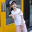 เสื้อ+กางเกง สีชมพู แพ็ค 6 ชุด ไซส์ 110-120-130-140-150-160 (เลือกไซส์ได้) thumbnail 9