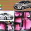 พรมปูพื้นในรถยนต์ ford fiesta ลายกระดุมสีชมพูขอบดำ thumbnail 1