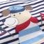 เสื้อยืดลายขวางสีกรมท่าลายน้องหมา [size 2y-3y-4y-5y-6y] thumbnail 3