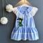 ชุดกระโปรง สีน้ำเงิน แพ็ค 5ชุด ไซส์ 100-110-120-130-140 thumbnail 1