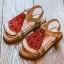 รองเท้าเด็กแฟชั่น สีแดง แพ็ค 5 คู่ ไซต์ 26-27-28-29-30 thumbnail 1