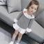 ชุดเดรสลายทางสีดำปัก snow white ที่ปกคอ [size 3y-4y-5y-6y] thumbnail 1