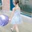 ชุดเดรสสายเดี่ยวสีฟ้าลายดอกไม้ แพ็ค 5 ชุด [size 2y-3y-4y-5y-6y] thumbnail 3