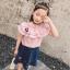 เสื้อ สีชมพู แพ็ค 5ชุด ไซส์ 100-110-120-130-140 thumbnail 1