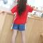 เสื้อ สีแดง แพ็ค 5 ชุด ไซส์ 120-130-140-150-160 (เลือกไซส์ได้) thumbnail 5