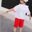 เสื้อ+กางเกง สีแดง แพ็ค 5 ชุด ไซส์ 120-130-140-150-160 (เลือกไซส์ได้) thumbnail 5