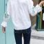 เสื้อ สีขาว แพ็ค 5 ชุด ไซส์ 120-130-140-150-160 (เลือกไซส์ได้) thumbnail 3