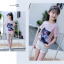 เสื้อ สีชมพู แพ็ค 5 ชุด ไซส์ 120-130-140-150-160 (เลือกไซส์ได้) thumbnail 5