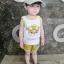 ชุดเซตเสื้อกล้ามลายน้องหมาสีเหลือง แพ็ค 5 ชุด [size 6m-1y-18m-2y-3y] thumbnail 5