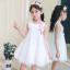 ชุดกระโปรง สีขาว แพ็ค 6 ชุด ไซส์ 110-120-130-140-150-160 thumbnail 2