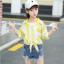 เสื้อ สีเหลือง แพ็ค 5 ชุด ไซส์ 120-130-140-150-160 (เลือกไซส์ได้) thumbnail 1
