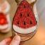 รองเท้าเด็กแฟชั่น สีเขียว แพ็ค 5 คู่ ไซต์ 21-22-23-24-25 thumbnail 3