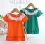 เสื้อ สีส้ม แพ็ค 5ชุด ไซส์ 90-100-110-120-130 thumbnail 8