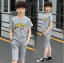 เสื้อ+กางเกง สีเทา แพ็ค 5 ชุด ไซส์ 130-140-150-160-170 (เลือกไซส์ได้) thumbnail 1