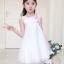 ชุดกระโปรง สีขาว แพ็ค 6 ชุด ไซส์ 110-120-130-140-150-160 thumbnail 3