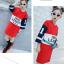 เสื้อยาว สีแดง แพ็ค 5 ชุด ไซส์ 120-130-140-150-160 (เลือกไซส์ได้) thumbnail 2