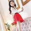 เสื้อ+กระโปรง สีแดง แพ็ค 5ชุด ไซส์ 100-110-120-130-140 thumbnail 6