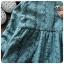ชุดเดรสแขนยาวลายหิมะสีฟ้าพร้อมเข็มกลัดหอยทาก [size 2y-3y] thumbnail 4