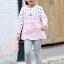 เสื้อ สีชมพู แพ็ค 5 ชุด ไซส์ 80-90-100-110-120 (เลือกไซส์ได้) thumbnail 1
