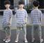 เสื้อ+กางเกง สีน้ำเงิน แพ็ค 5 ชุด ไซส์ 120-130-140-150-160 (เลือกไซส์ได้) thumbnail 1