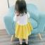 ชุดเดรสแขนยาวกระโปรงสีเหลือง [size 6m-1y-18m-2y-3y] thumbnail 6