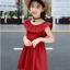 ชุดกระโปรง สีแดง แพ็ค 5 ชุด ไซส์ 110-120-130-140-150 (เลือกไซส์ได้) thumbnail 3