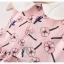 ชุดเดรสสีชมพูลายดอกไม้ [size 6m-1y-18m-2y] thumbnail 5
