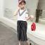 เสื้อ+กางเกง สีขาว แพ็ค 5 ชุด ไซส์ 120-130-140-150-160 (เลือกไซส์ได้) thumbnail 4