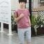 เสื้อ+กางเกง สีน้ำตาล แพ็ค 5 ชุด ไซส์ 130-140-150-160-170 (เลือกไซส์ได้) thumbnail 2