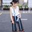 เสื้อ+กางเกง สีฟ้า แพ็ค 6 ชุด ไซส์ 110-120-130-140-150-160 (เลือกไซส์ได้) thumbnail 7